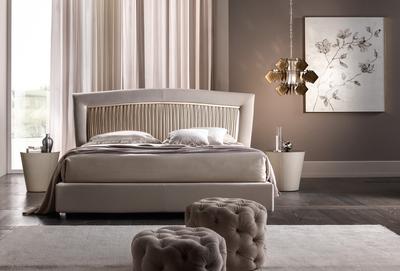 bed Portofino plisse