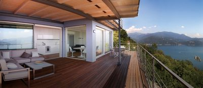 Dwelling on the shore of Lake Maggiore (Italy)